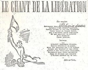 Le chant de la Libération, 14 juillet 1943, photogravé par Robert THIVIN