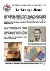 Première page du DTR N° 32 - Le groupe René