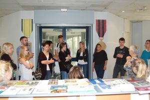 Visite pédagogique du Musée par un groupe de lycéens allemands en mai 2015