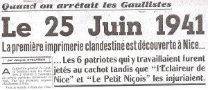 Le journal L'Ergot du 23 juin 1946 évoque les premières arrestations de gaullistes en juin 1941
